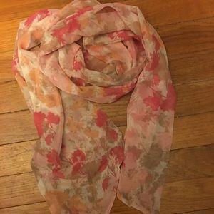 Loft pink flower pattern scarf OS